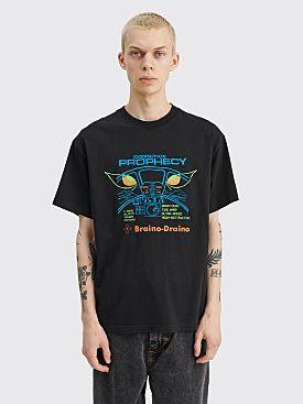 Brain Dead Cognitive Prophecy T-shirt Washed Black