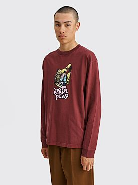 Brain Dead Bubblegum Shorty LS T-shirt Maroon