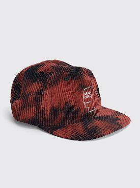 Brain Dead Bleached Cord Logo Head Cap Black