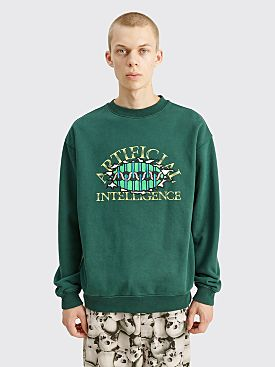 Brain Dead Artificial Intelligence Crewneck Sweatshirt Forest Green