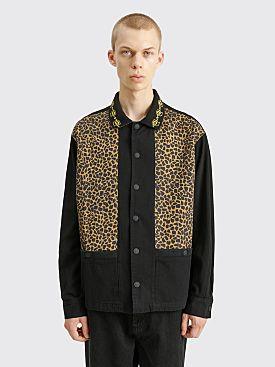 Brain Dead Cheetah Cabana Shirt Leopard / Black