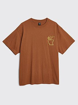 Brain Dead Fruitful Companion T-shirt Light Brown