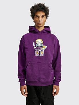 Brain Dead Clownin' Hooded Sweatshirt Purple