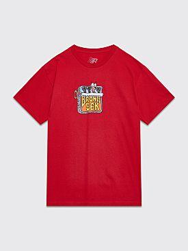 Bronze Sardines T-shirt Cardinal Red