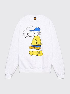Butter Goods Lo Goose Champion Crew Neck Sweatshirt Grey