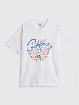 Casablanca Hibiscus Printed T-shirt White