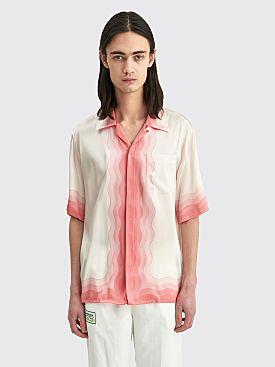 Casablanca Kapalia Printed Silk Satin Shirt White / Pink