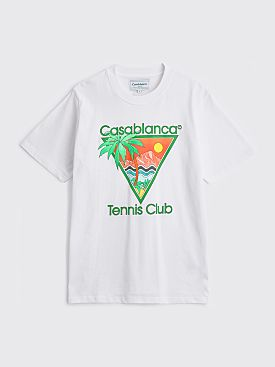 Casablanca Tennis Club Icon T-shirt White