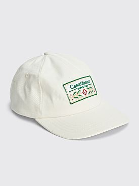 Casablanca Laurel Patch Cap Off White