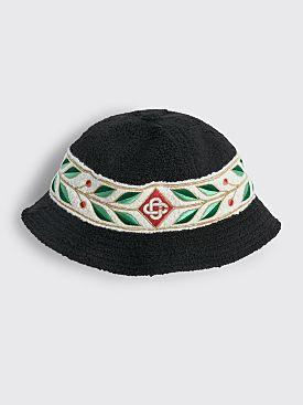 Casablanca Laurel 6 Panel Bucket Hat Black