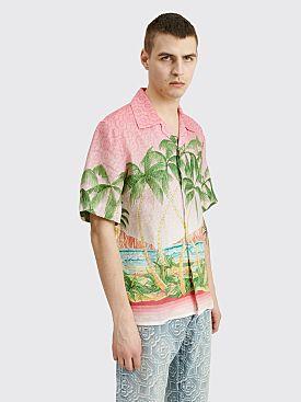 Casablanca Printed SS Linen Shirt Rose A Maui