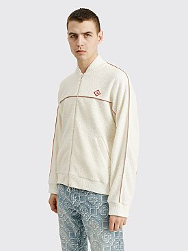 Casablanca Piped Terry Tracksuit Top Ecru