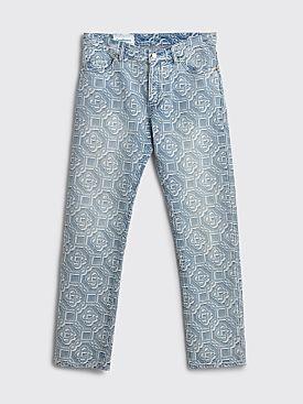 Casablanca Jacquard Logo Denim Jeans Sunbleached