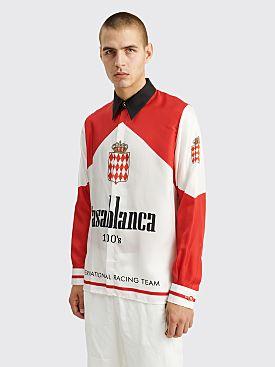 Casablanca Printed Silk Twill Shirt White / Red