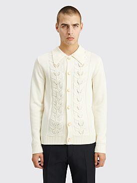 Casablanca Pearl Leaf Cardigan White