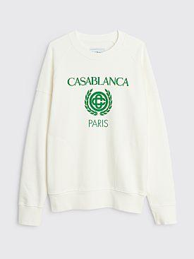 Casablanca Reverse Loopback Panel Sweatshirt Off White