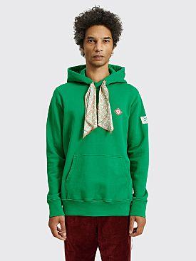 Casablanca Scarf Hooded Sweatshirt Green