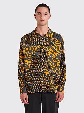 Cav Empt Scan Line Big Shirt Grey / Orange