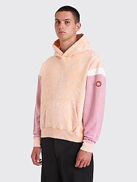 Cav Empt Overdye Wisteria Sleeve Heavy Hooded Sweatshirt Orange