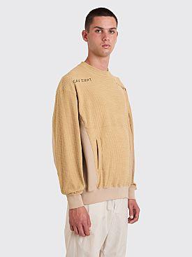 Cav Empt Block Fleece Crew Sweater Beige