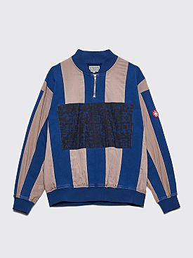 Cav Empt Half Zip Pullover Stripe Blue / Grey