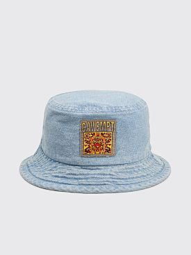 Cav Empt Washed Denim Bucket Hat Light Blue