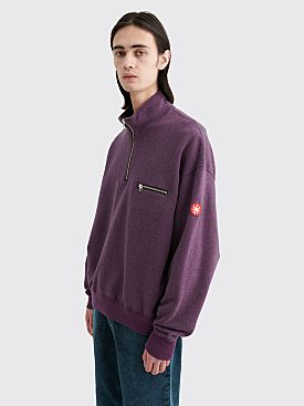Cav Empt Exterior Half Zip Sweater Purple