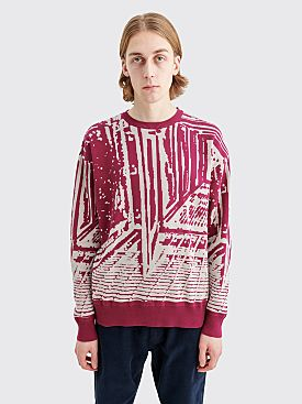 Cav Empt Passage Linked Knit Sweater Purple