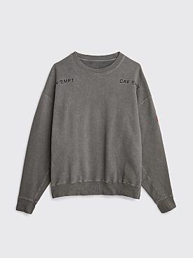 Cav Empt Overdye Squad Crew Sweater Grey