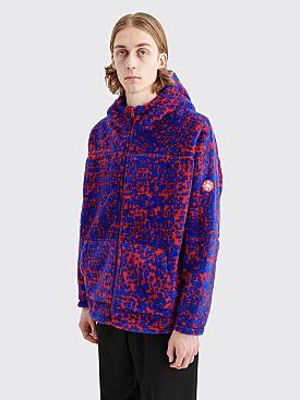 Cav Empt Noise Fleece Hooded Zip Sweater Red / Blue