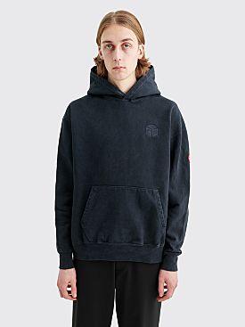 Cav Empt Overdye Cube Heavy Hooded Sweatshirt Dark Grey
