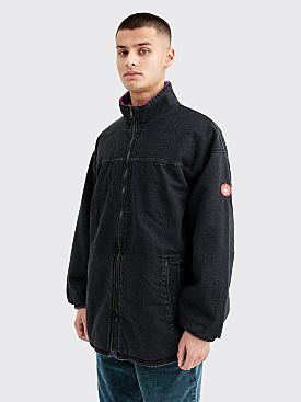 Cav Empt Reversible Fleece Denim Jacket Black