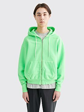 Cav Empt Heavy Hooded Zip Sweatshirt Green