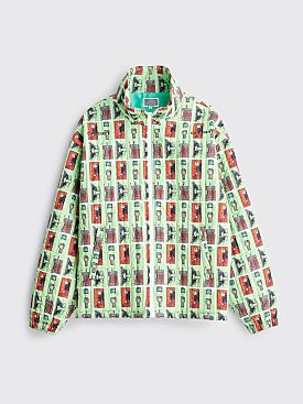 Cav Empt Source Output Quilted Zip Jacket Green