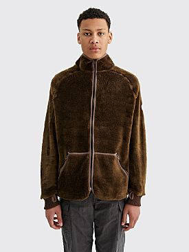Cav Empt Furry Fleece Light Jacket Brown