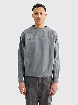 Cav Empt Overdyed Pad Crew Neck Grey