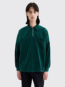 Cav Empt Velvet Pullover Shirt Green