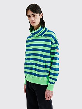 Cav Empt Stand Collar Sweat Striped Green