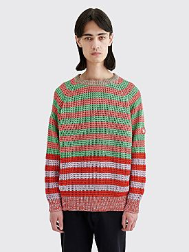 Cav Empt Loose Waffle Knit Stripe Pink