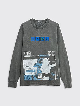 Cav Empt Overdye Flight LS T-shirt Charcoal