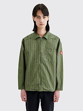 Cav Empt Wave Stripe Zip Jacket Khaki