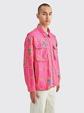 Cav Empt Grid Zip Shirt Jacket Pink