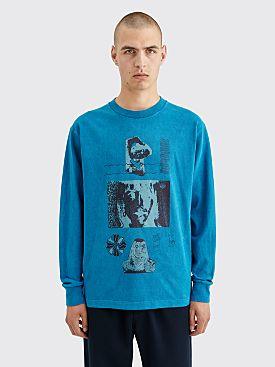 Cav Empt Overdye Configuration LS T-shirt Blue