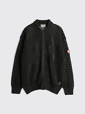 Cav Empt Mesh Knit Zip Cardigan Dark Grey