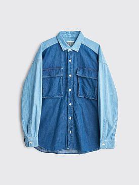 Cav Empt Two Colour Denim Shirt Blue