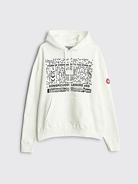 Cav Empt Consumption Heavy Hooded Sweatshirt White