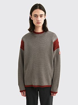 Cav Empt Overdye Red Frame Knit Sweater Grey / Red