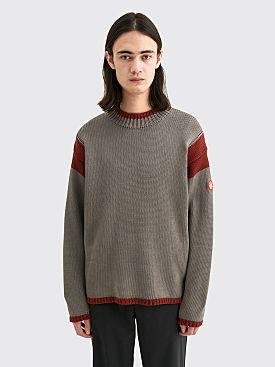 Cav Empt Overdye Red Frame Knit Sweater Grey / Red