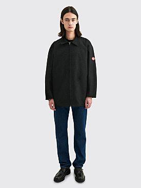 Cav Empt Heavy Wool Zip Jacket Dark Grey
