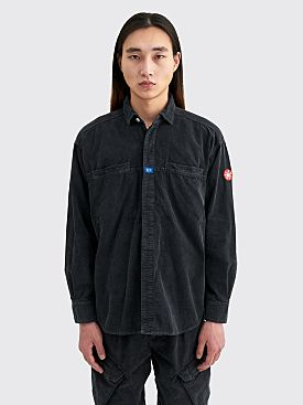 Cav Empt Overdye Cord Design Big Shirt Black
